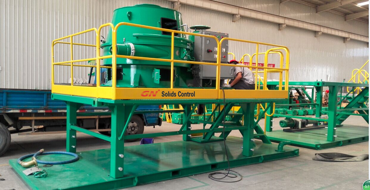 cuttings dryer with skid