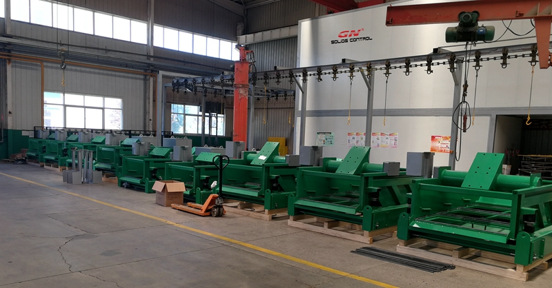 9 sets Shale Shakers sin motor de vibración para cliente en Shandong