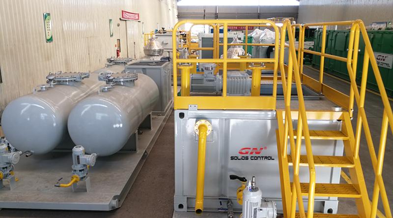 Sistema completo de tratamiento de lodos de aceite