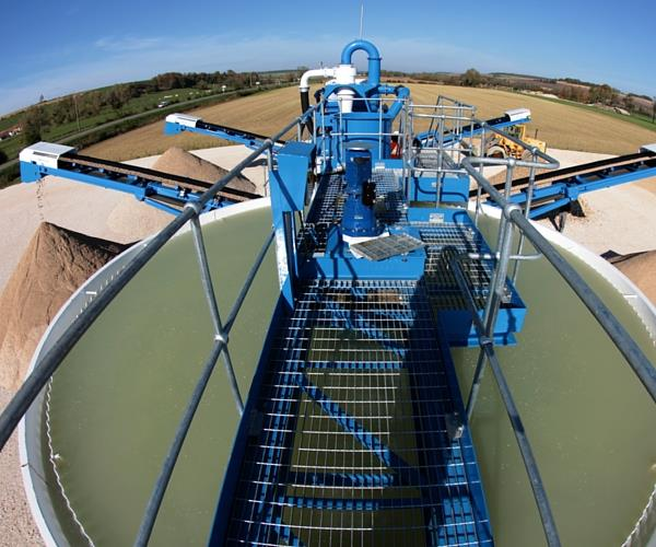 sand and gravel washing water treatment